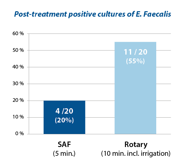 Post-treatment positive cultures of E. Faecalis